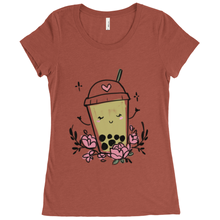 Load image into Gallery viewer, <3 Boba Scoop Neck Tee