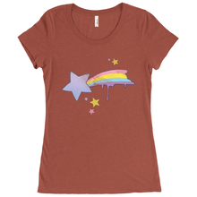 Load image into Gallery viewer, Shooting Star Scoop Neck Tee