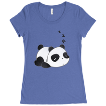 Load image into Gallery viewer, Sleepy Panda Scoop Neck Tee