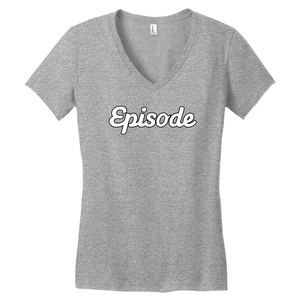 Episode White & Black Logo V-Neck Tee