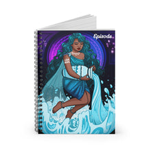 Load image into Gallery viewer, Aquarius Episode Spiral Notebook