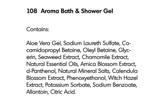 AROMA BATH AND SHOWER GEL (108) - rayaspa