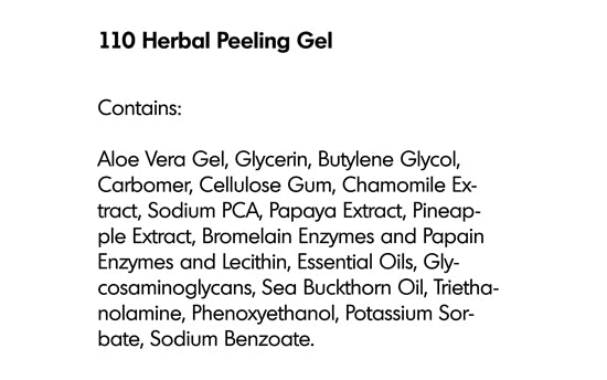 HERBAL PEELING GEL (110) - rayaspa
