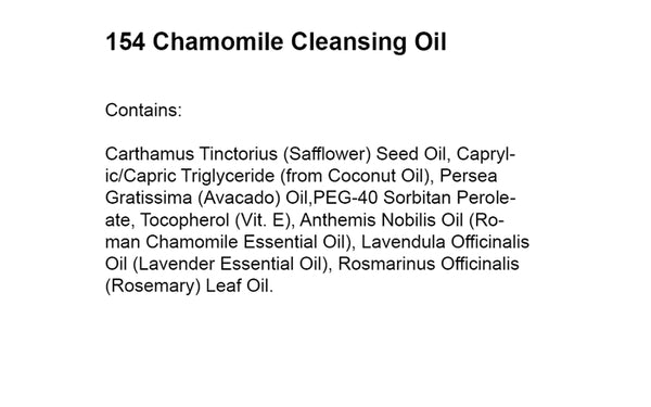 CHAMOMILE CLEANSING OIL (154) - rayaspa