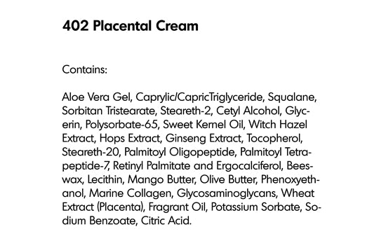 PLACENTAL CREAM (402) - rayaspa