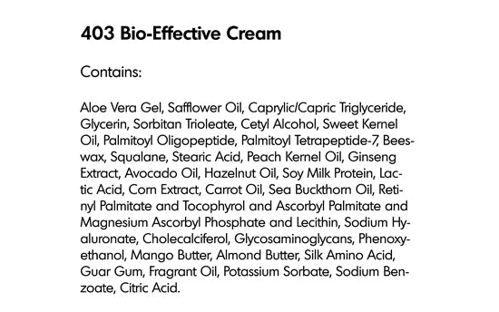 BIO-EFFECTIVE CREAM (403) - rayaspa