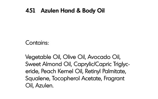 AZULEN HAND AND BODY OIL (451) - rayaspa