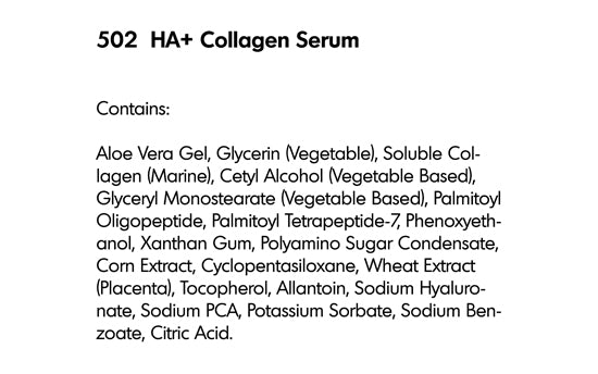 HA + COLLAGEN ANTI-AGING SERUM (502)