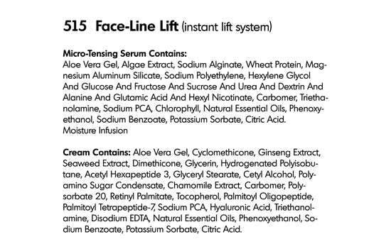 INSTANT FACE-LINE LIFT (515) - rayaspa