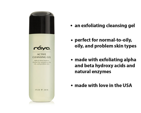 ACTIVE CLEANSING GEL WITH AHA & BHA (G-107) - rayaspa