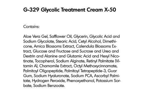 GLYCOLIC TREATMENT CREAM X-50 (G-329) - rayaspa
