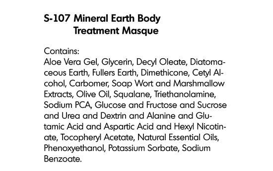 MINERAL EARTH BODY TREATMENT MASQUE (S-107)