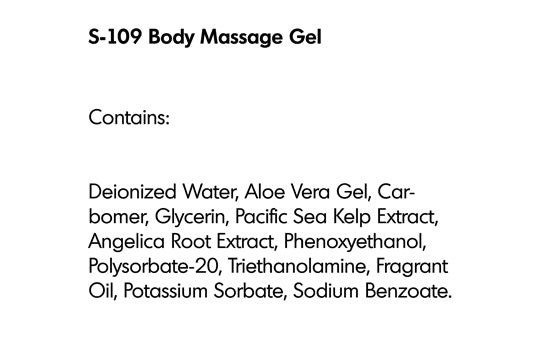 BODY MASSAGE GEL (S-109) - rayaspa