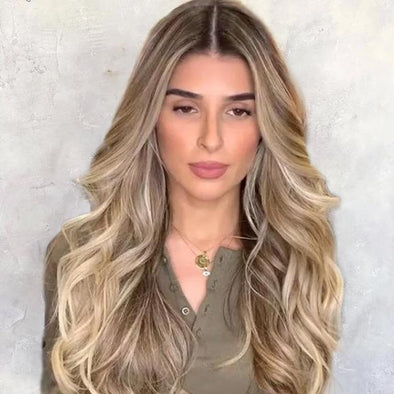 2019 New Fashion Brown Wave Wig