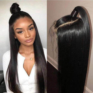Straight Human Hair Wig Natural Hairline Soft Sleek