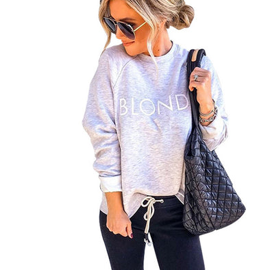 Letter Print O-Neck Sweat Shirt