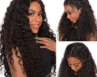 Human Wigs African American Pastel Human Hair Wigs Transparent Frontal Lace Braids Wig Jerry Curl Wig Human Hair Deep Part Wig