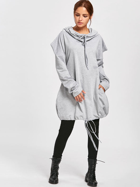 Plain Color Long Sleeve Tall Hoody