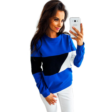Block Color Long Sleeve Pullover Shirt