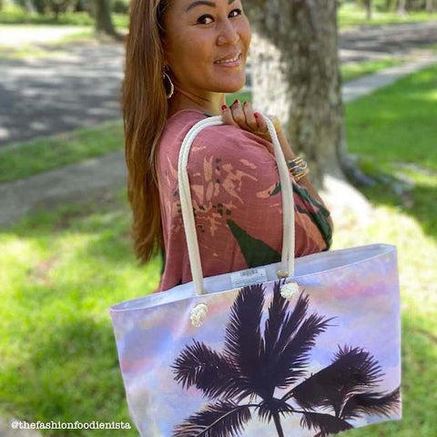 Cotton Candy Clouds Canvas Tote Bag