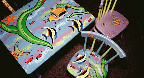 Patti Bruce's hand-painted children's furniture