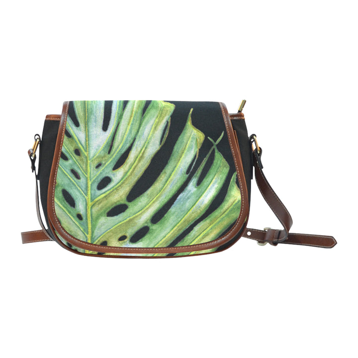 Crossbody Bag: Tropical Hawaiian Monstera Leaf Purse