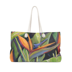 Canvas Tote Bag: Dancing Birds