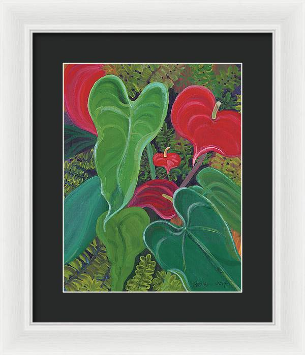 Anthurium Garden - Framed Print