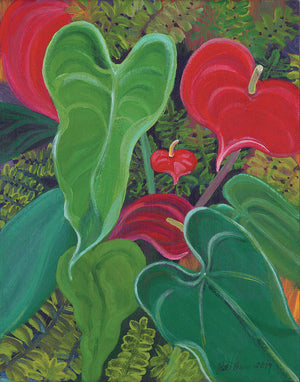 Hawaii Tropical Flowers, Anthurium Garden - Archival Print