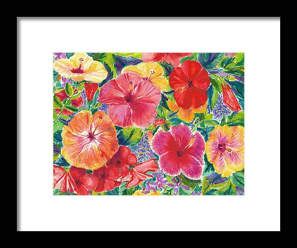 Hibiscus Impressions - Framed Print