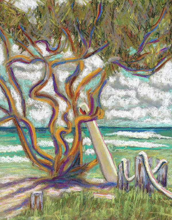 Malaekahana Tree Hawaii Beach - Archival Print
