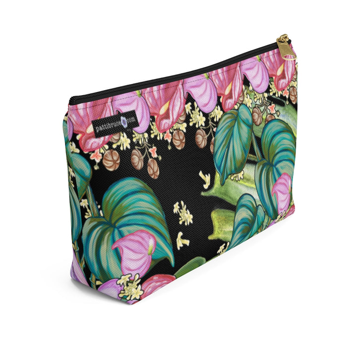 T-Bottom Accessory Bag: Tropical Flowers, Anthurium and Hawaiian Healing Plants