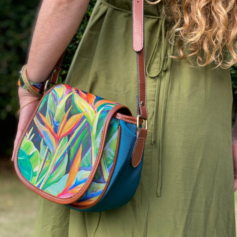 Crossbody Bag: Dancing Birds