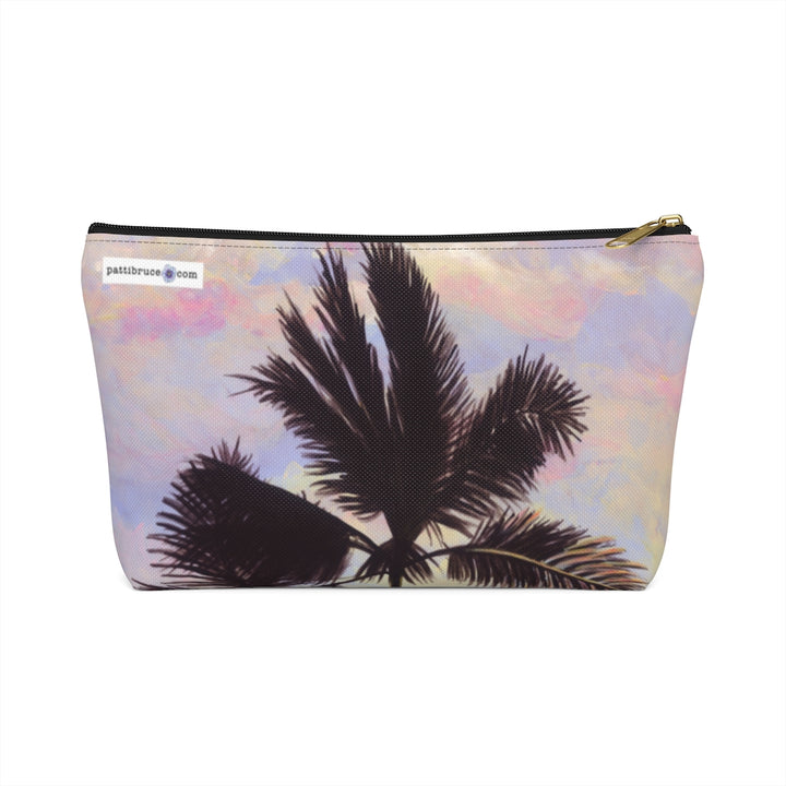 T-Bottom Accessory Pouch: Tropical Sunrise & Palms - Cotton Candy Clouds