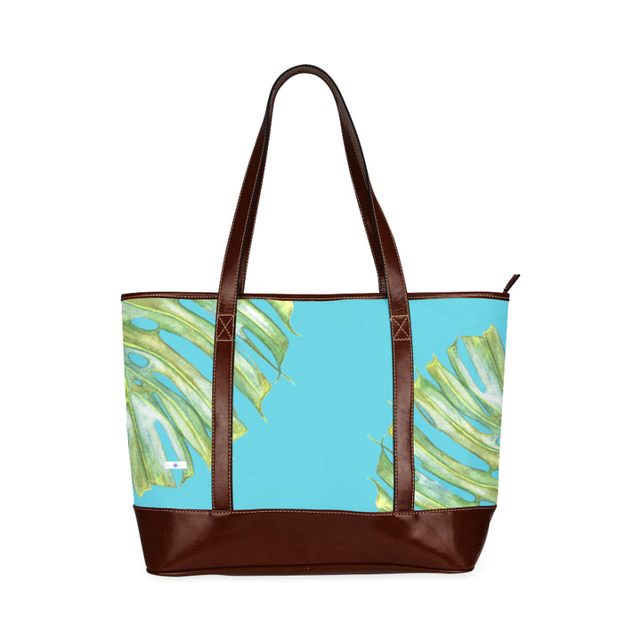 Weekender Tote Bag: Tropical Hawaiian Monstera Leaf Purse