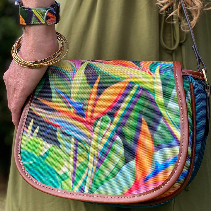 Crossbody Bag: Bird of Paradise Tropical Hawaiian Flower