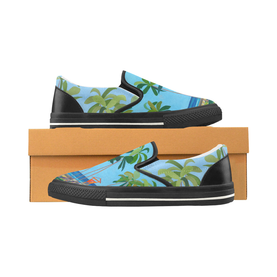 Kid's Slip-on Canvas Loafer Shoes: Kaimana Beach