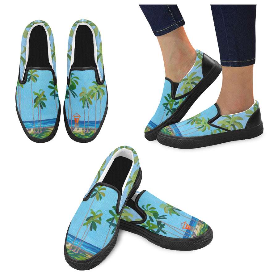 Women's Casual Slip-on Canvas Loafer Shoes: Kaimana Beach