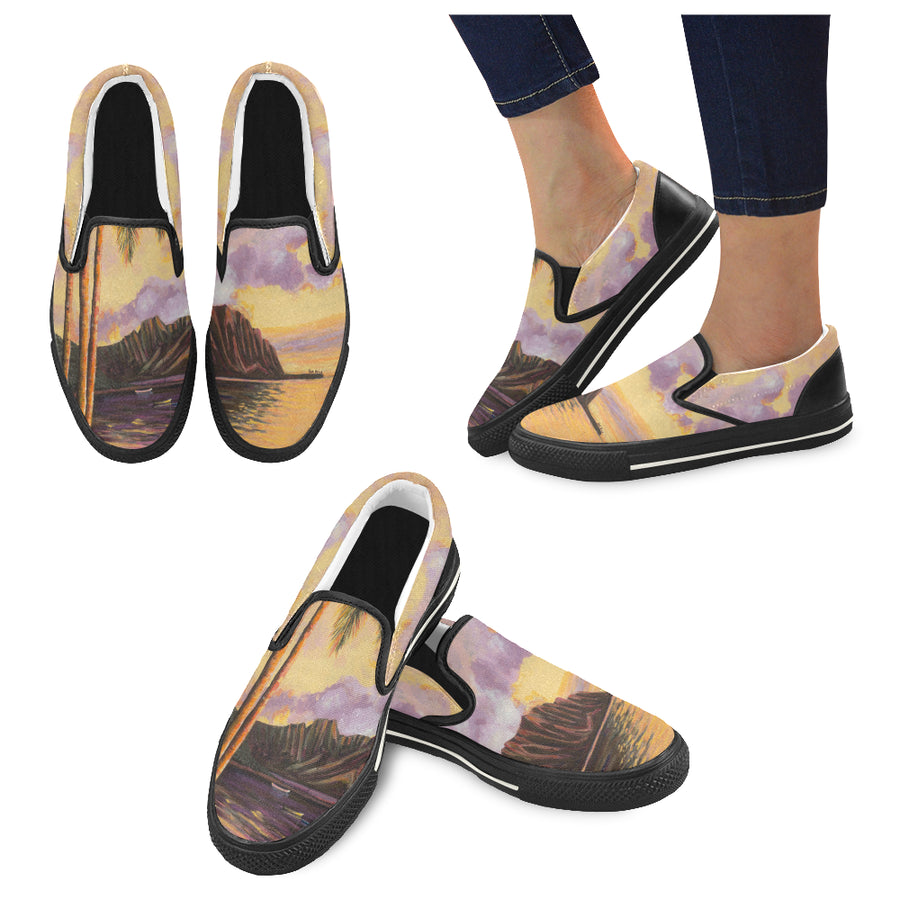 Women's Casual Slip-on Canvas Loafer Shoes: Glowing Kualoa