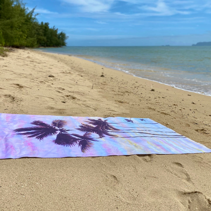 Beach Towel: Morning Ride Sunrise