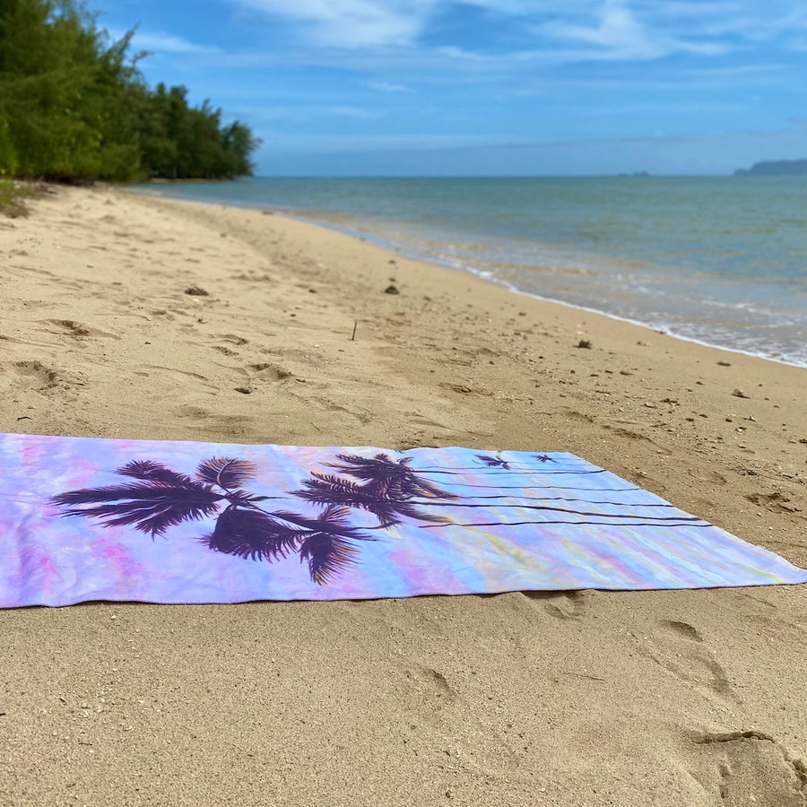 Beach Towel: Cotton Candy Clouds