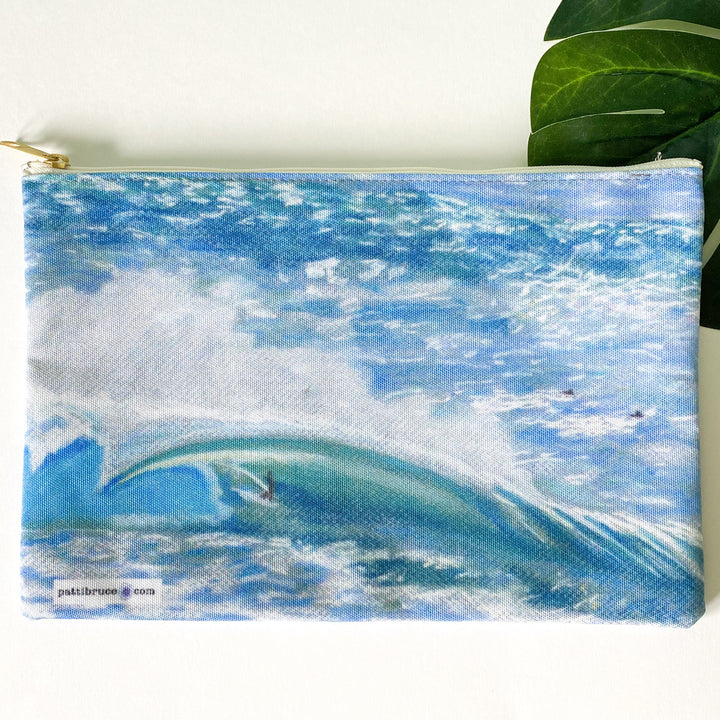 Accessory Pouch: Hawaii North Shore Big Wave Surfer - Waver Rider