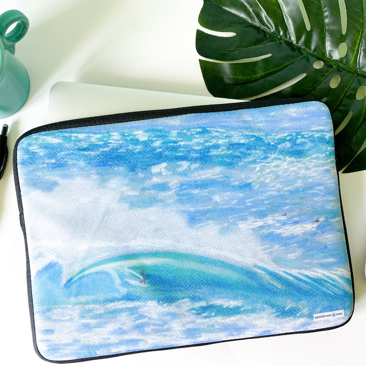 Laptop Sleeve - Hawaii North Shore Big Wave Surfer - Waverider