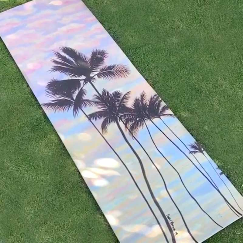 Yoga Mat: Cotton Candy Clouds