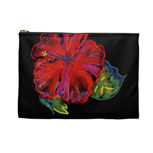 Accessory Pouch: Hawaii Tropical Hibiscus Flower - Electric Baby