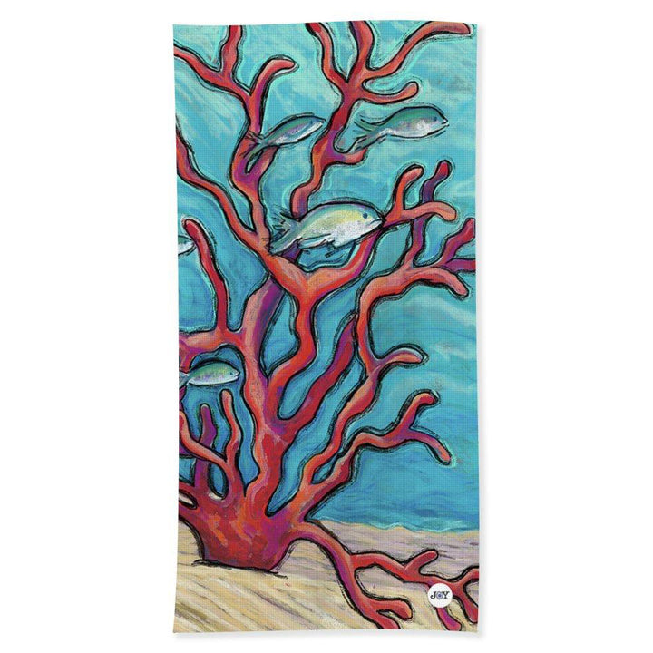 Beach Towel: Tropical Fish & Coral - Coral Assests
