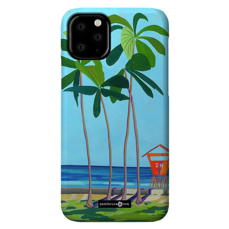 Phone Case: Waikiki Beach Lifeguard Tower, Kaimana Tower