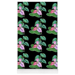 Yoga Mat: Tropical Camouflage Black