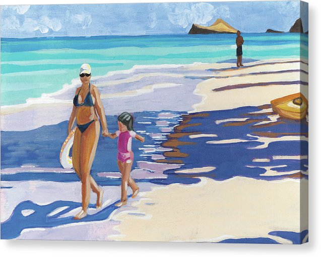 Beach Day: Canvas Print