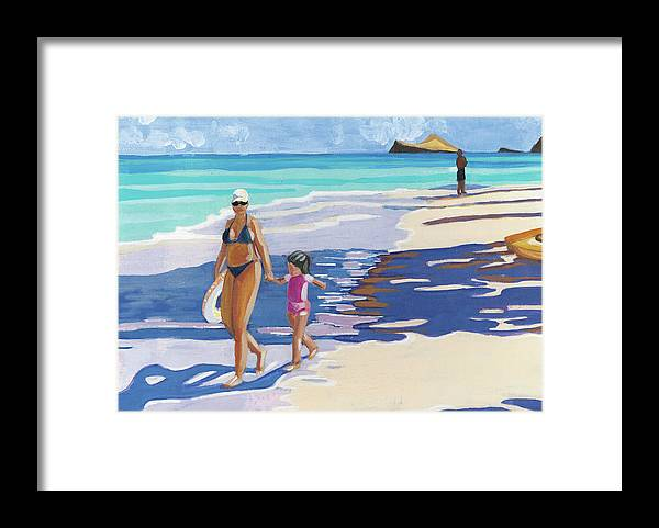 Beach Day: Framed Print